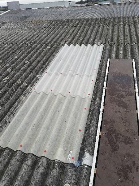 Asbestos rooflight replacement
