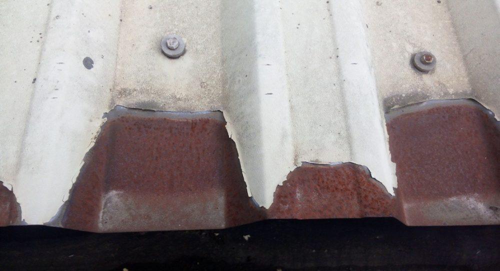 Eldon cut edge corrosion eaves sheet