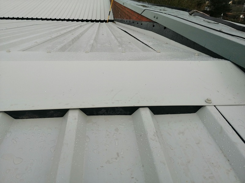Overcladding Empire High Wycombe flashing detail