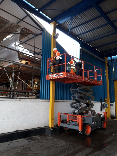 Pelagia new processing plant gable end works