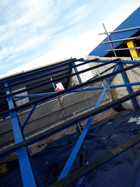 Pelagia new processing plant roof works
